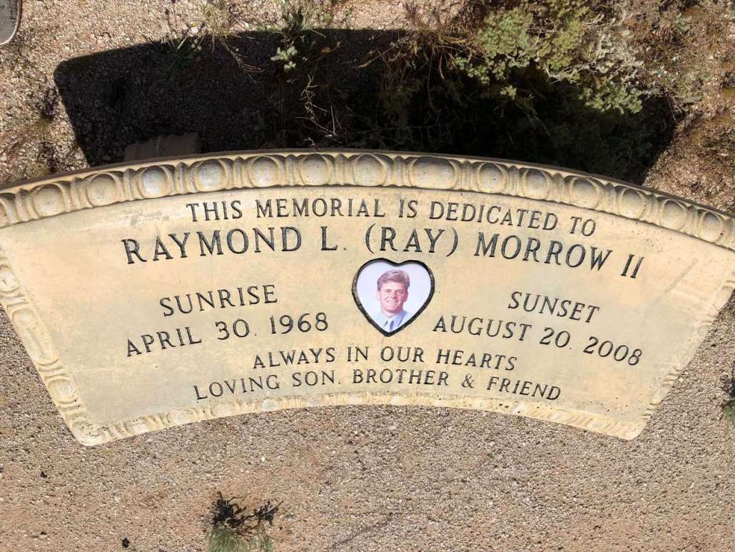 Roadside memorial for Ray Morrow Maricopa AZ