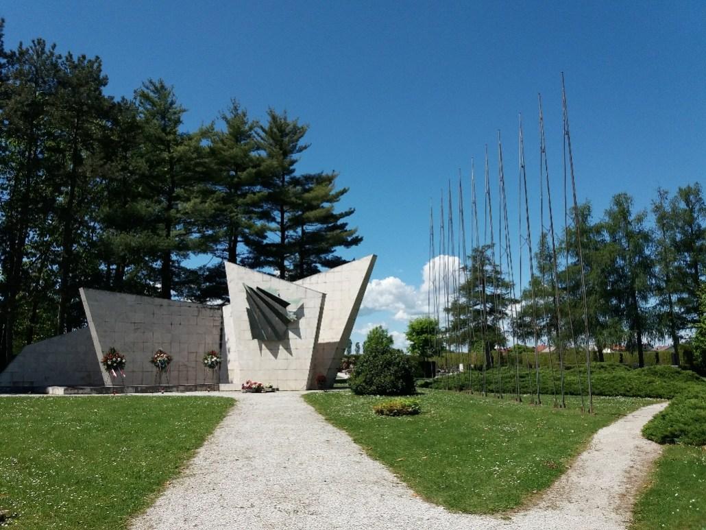 Memorial at Varaždin cemetery croatia