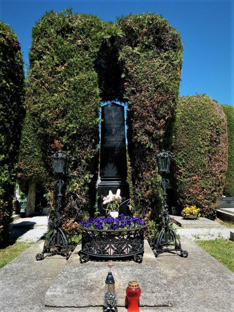Burial niche Varaždin cemetery croatia