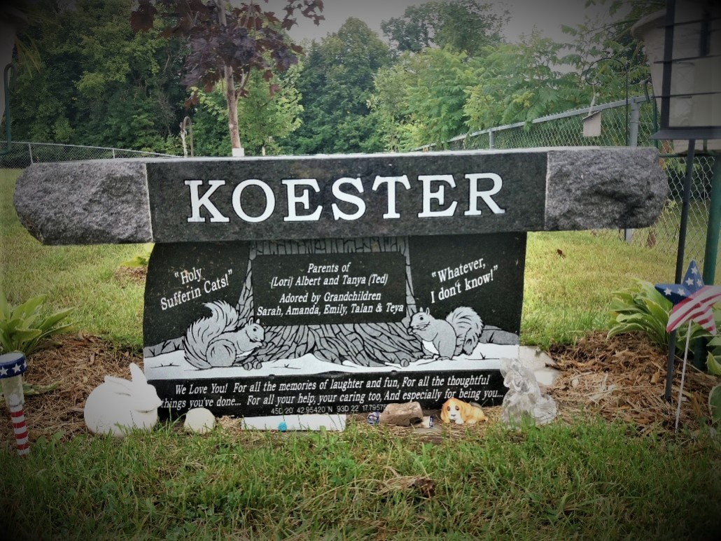 Koester gravestone South Green Lake Cemetery Chisago MN
