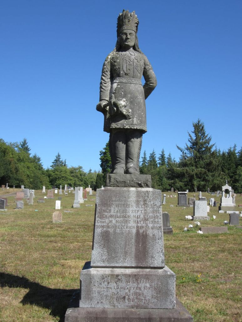 Chief Comcomly family tomb Greenwood Cemetery, Astoria, OR