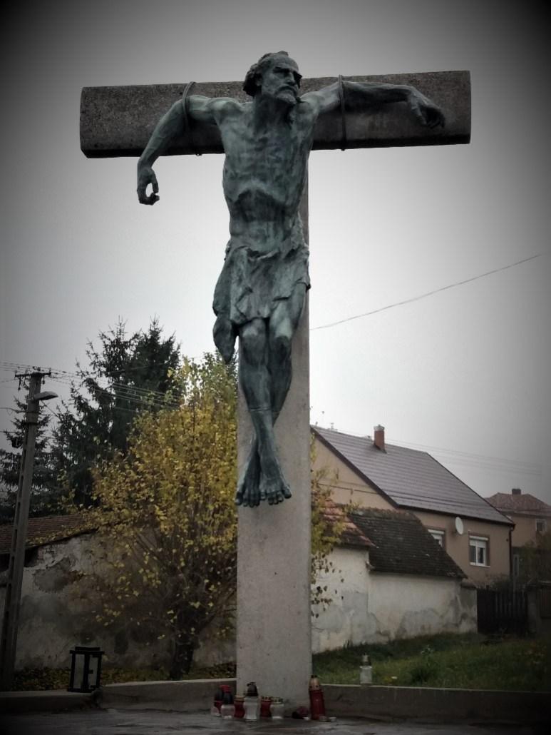 Thief tied to a cross Sümeg Cemetery Hungary