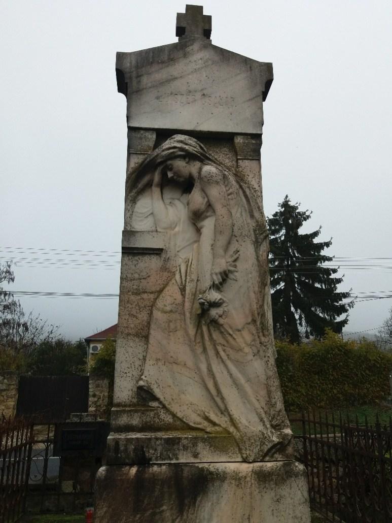 Grieving mother Luiszer family tomb Sümeg Cemetery Hungary