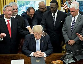 Image result for Trump being prayed for