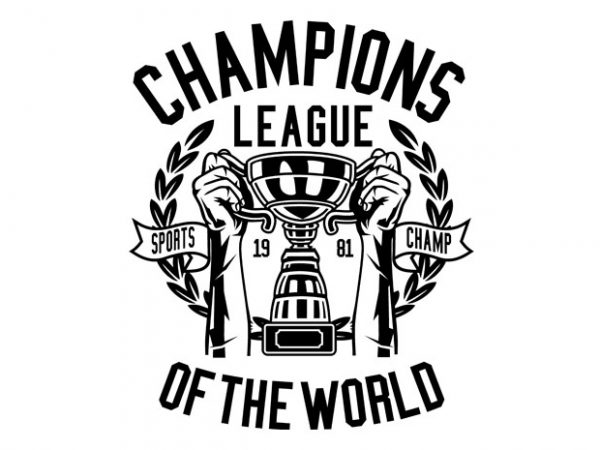 Champions League Tshirt Design- Best T-shirt Design