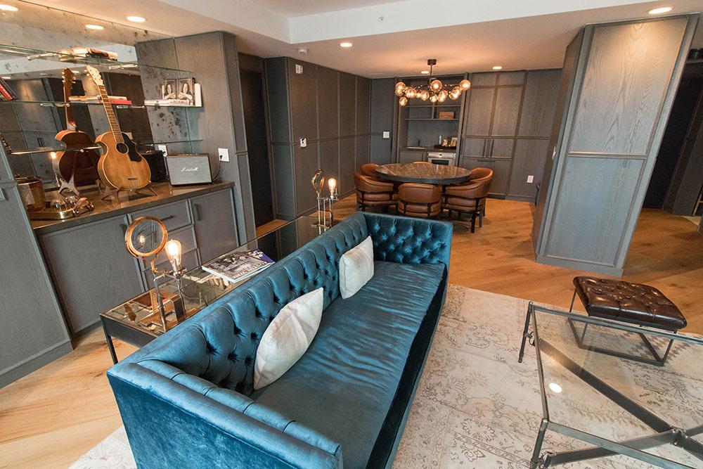 Loretta's Suite - Living Room - Hotel Van Zandt - Austin Texas - Kimpton