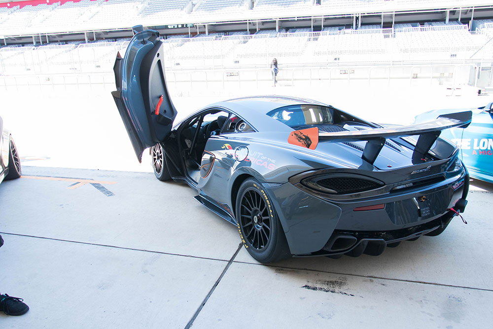 Mclaren 570S GT4 on COTA F1 Track