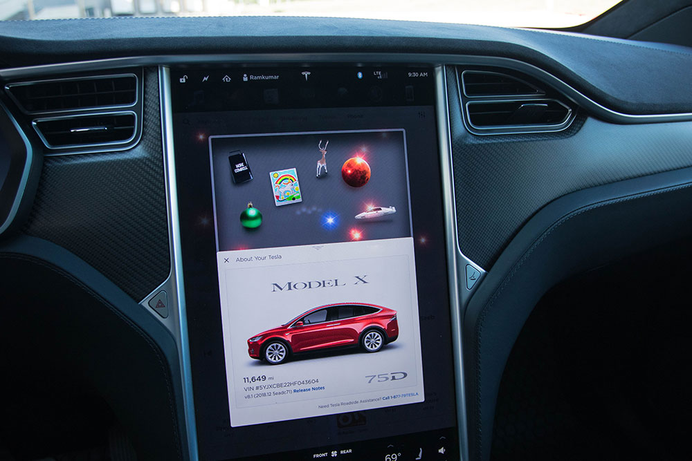 Tesla Model X Easter Eggs