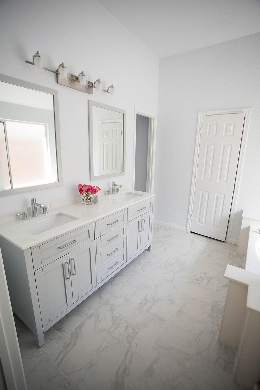After AllModern White Bathroom Renovation
