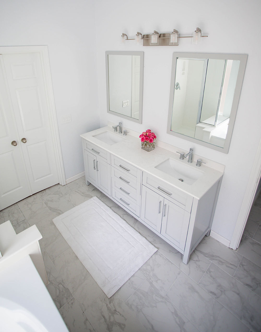 AllModern White Bathroom Renovation Top View