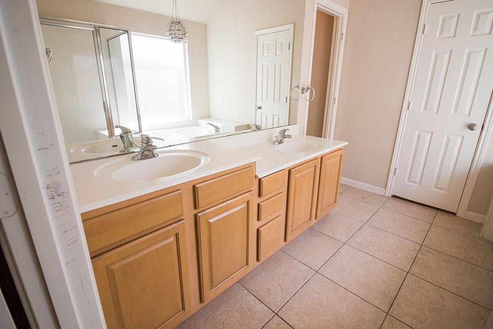 AllModern White Bathroom Renovation Before Photo