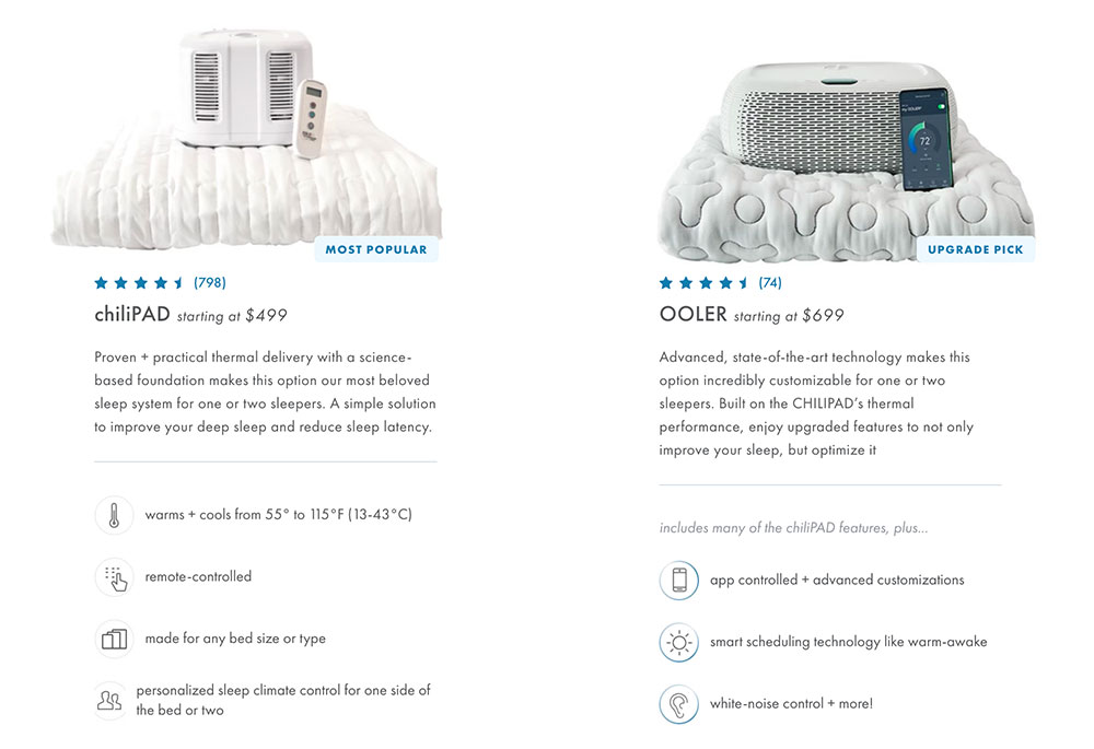 Chilipad vs Ooler water cooler and heater bed topper