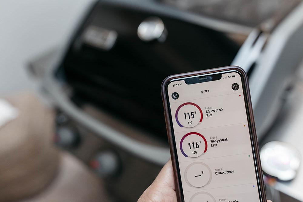 iGrill App Showing Ribeye Steak Temperature
