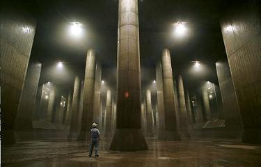 underground storm drain in Japan