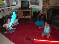 kids and lightsabers