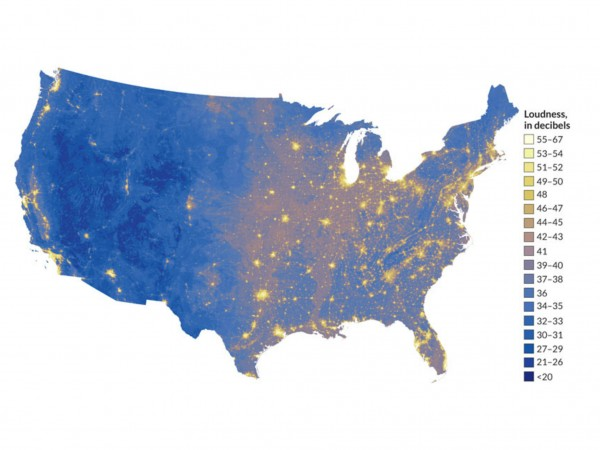 New map show's America's quietest places, from Science Magazine