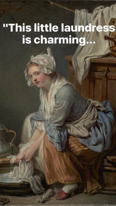 """This little laundress is charming..."""
