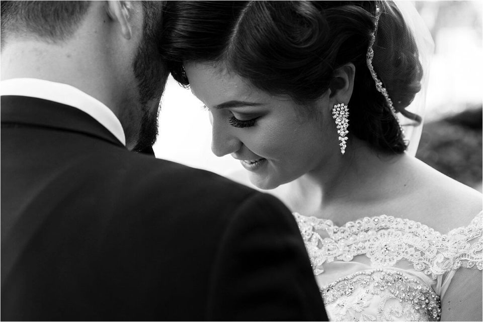 Quiet moment between bride and groom black and white photo - Woodstock London Ontario Lebanese middle eastern arab Wedding and engagement photos - Dylan Martin Photography