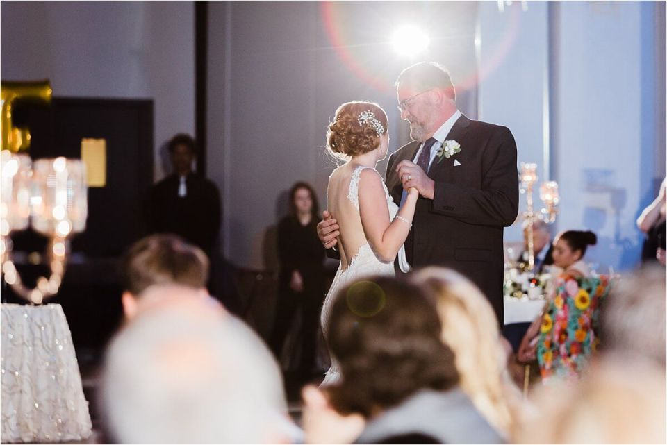 Father dances with his daughter at a Club Roma Wedding in St Catherines Ontario