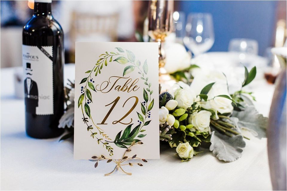 Table numbers at this Cluba Roma Wedding Reception