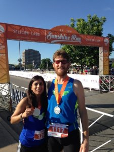 Sujata And Dylan Win Age Group Awards At The 2015 Silicon Labs Sunshine Run 5k