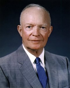 Dwight D. Eisenhower was a U.S. Army five-star general, statesman, and 34th President of the U.S.A. He served as Supreme Commander of the Allied Expeditionary Forces in Europe.