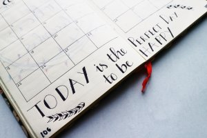 Inspiring calendar entry with