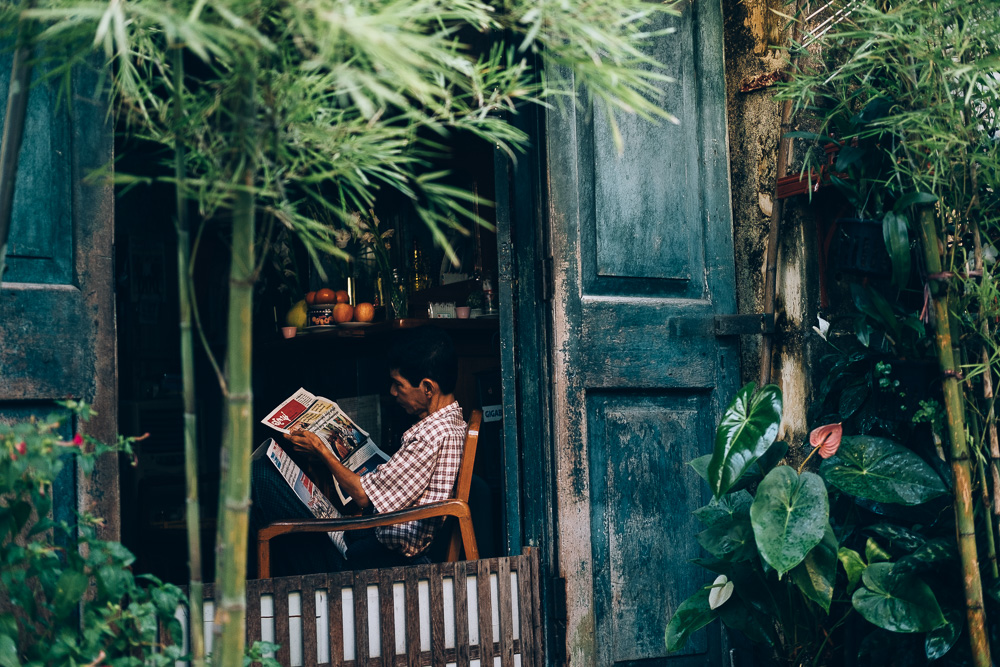 Newspaper Reader, Yangon Downtown, Myanmar - Photographer