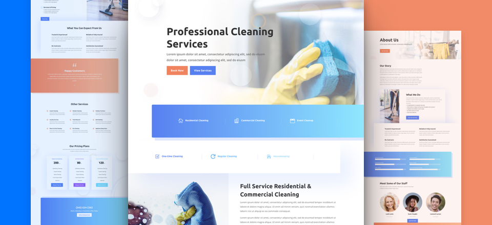 Get a New Website for your Cleaning Company