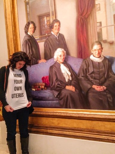 Visit Washington DC's National Portrait Gallery to see a beautiful painting of all four female Supreme Court justices