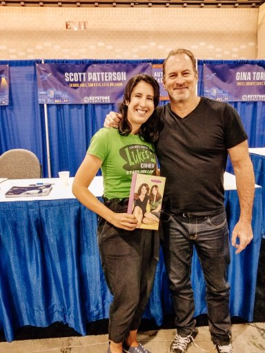Young Woman Standing Next to Scott Patterson at Comic Con Philadelphia