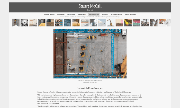 Screenshot of stuartmccall.ca
