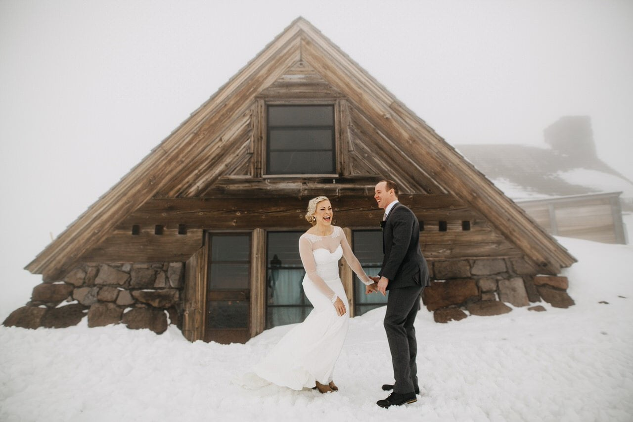 snow mt hood silcox hut photo