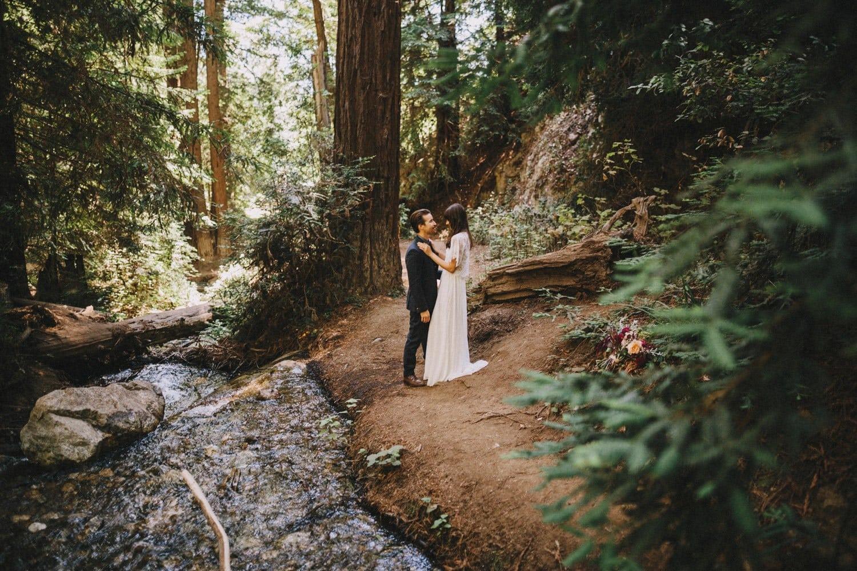 Forest walk wedding