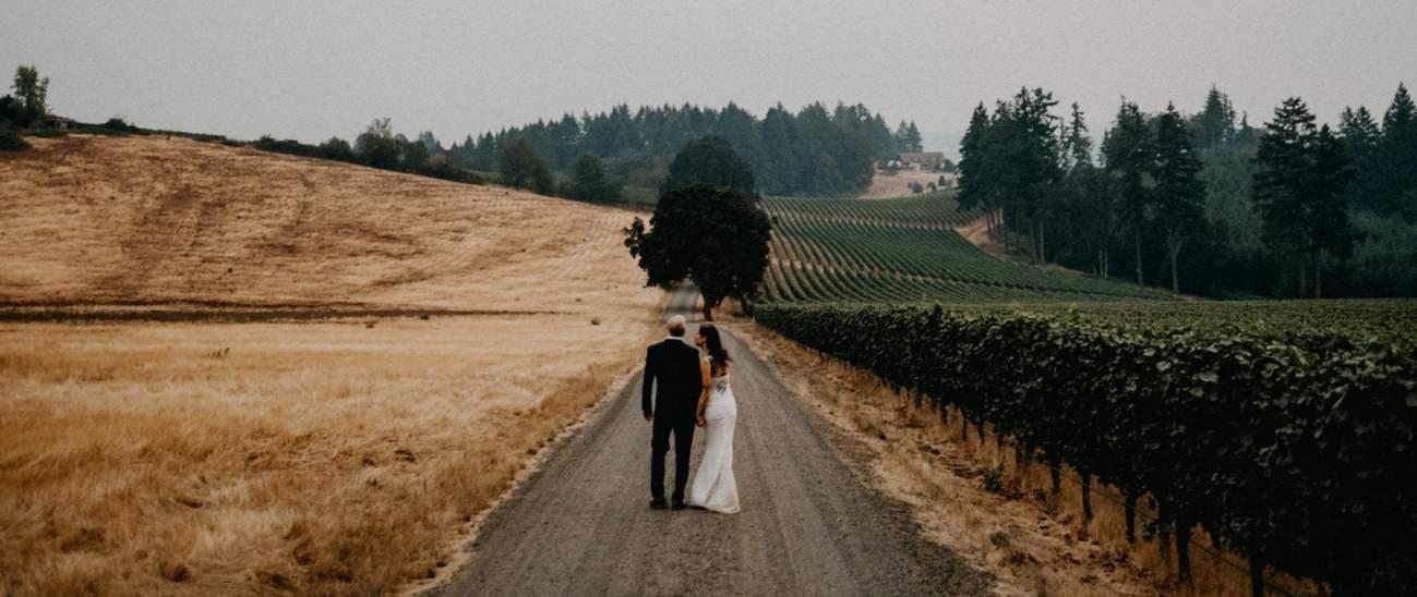 vista hills wedding dundee oregon photo