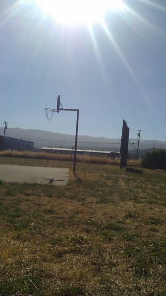 Basketball court in Ukiah California