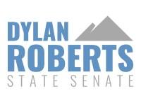 Dylan Roberts State Senate Logos_Full Logo_Blue Grey