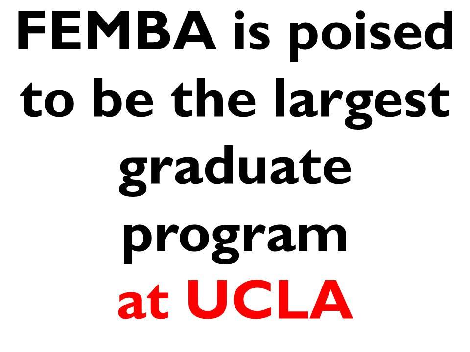 Calling all UCLA FEMBA Applicants (2015 Intake) Class of