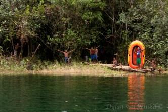 'The boys' enjoying Lake Hargy