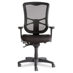 Alera Elusion Chair Boss Ntr Executive Leatherplus Series Mesh High Black Back Multifunction