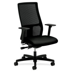 Hon Ignition 2 0 Chair Review Oversized Folding Quad Mid Fabric Black Seat Mesh Back Polished Aluminum Task