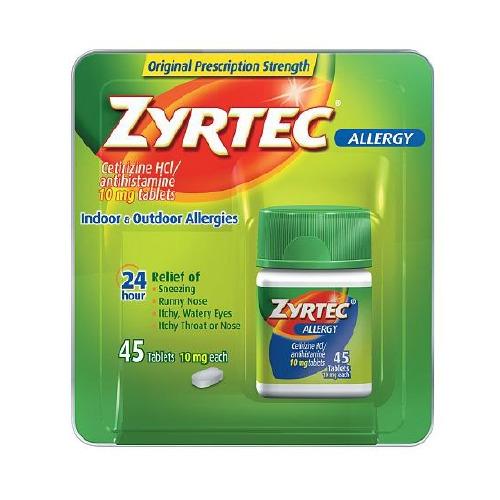 Zyrtec Allergy Relief Zyrtec® 10 mg Strength Tablet ...