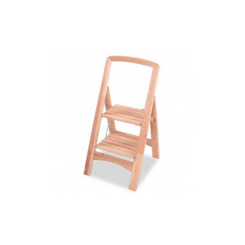 Cosco TwoStep Wood Folding Step Stool  SMF11254NAT1