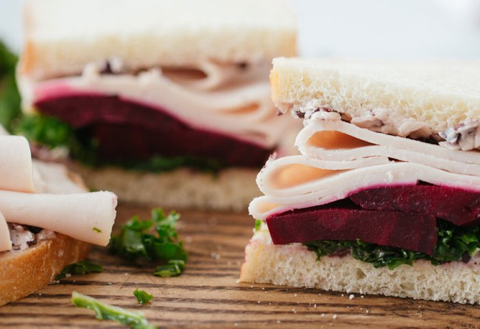 Recipes Turkey Sandwich With Kale Beets And Black Olive Butter