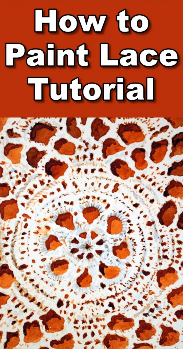 How to Paint Lace Work in Watercolour  Online Art Lessons