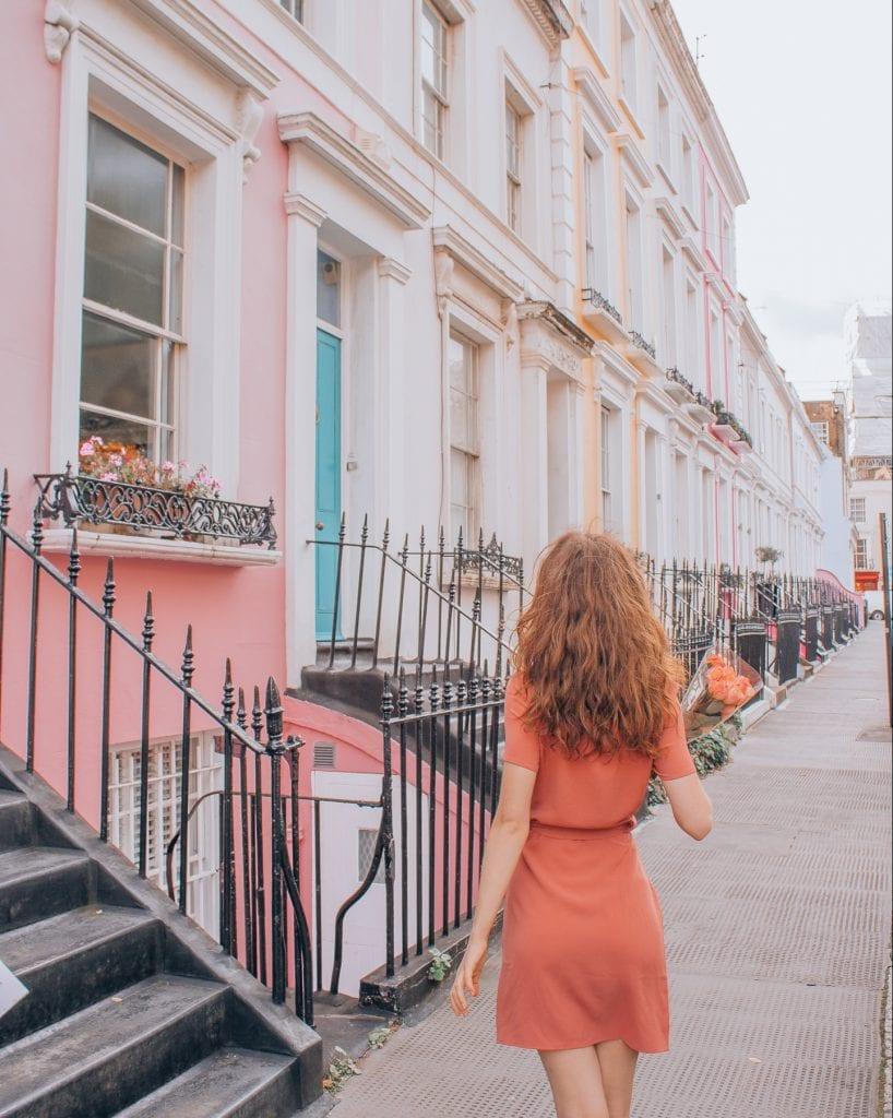Girl in Denbigh Terrace
