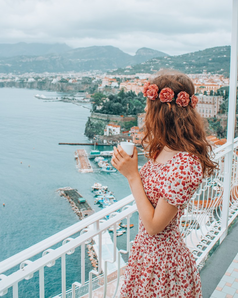 Coffee with a view in Sorrento