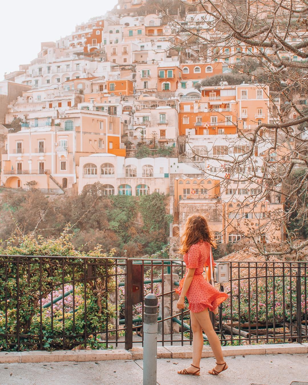 Girl in Positano walking