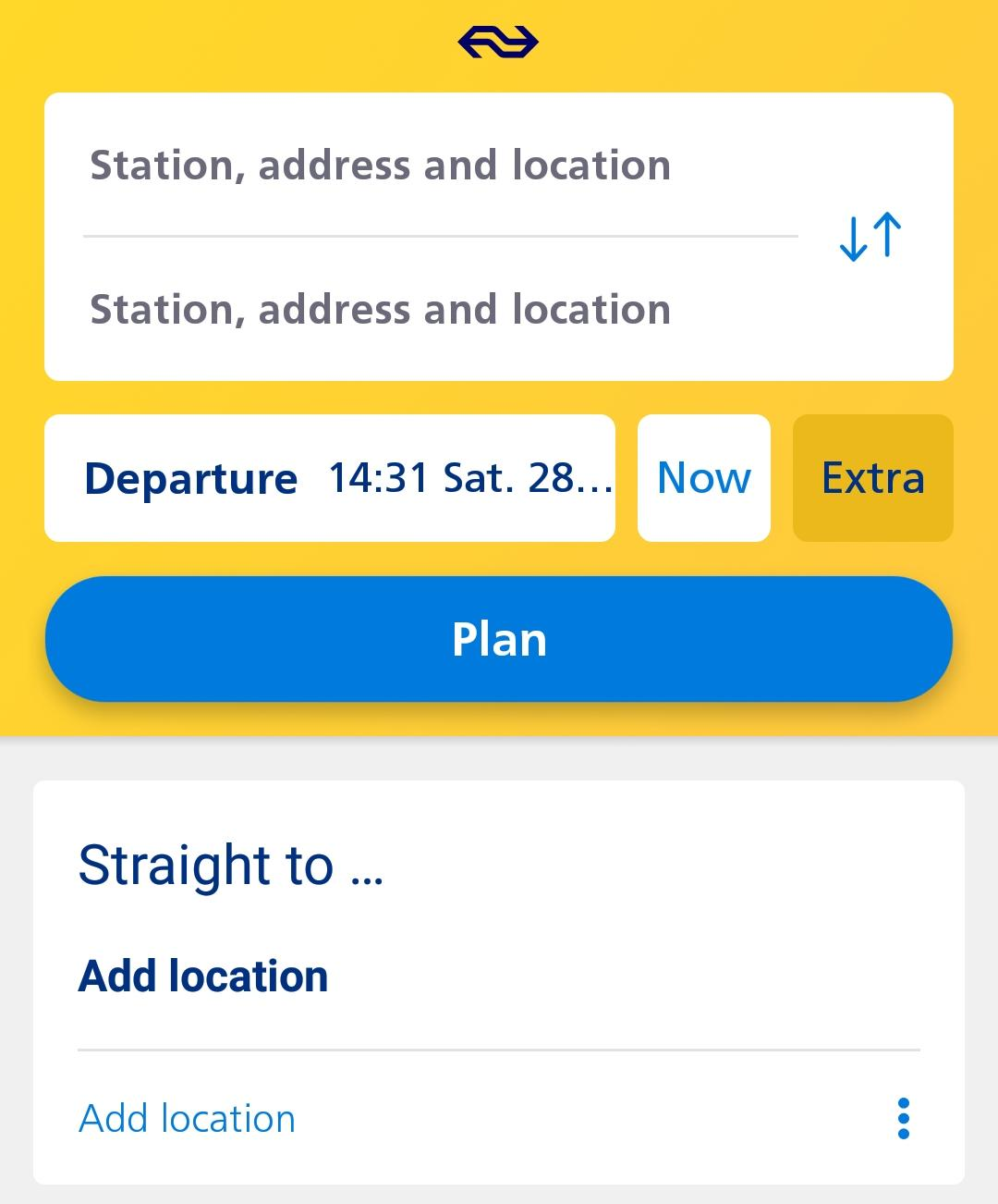 NS app to plan your route
