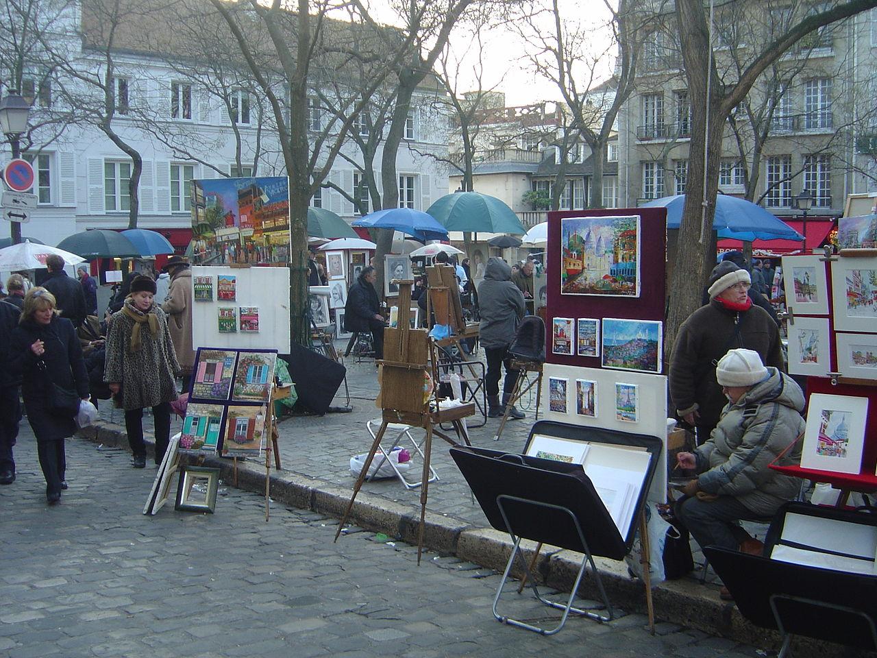 Paintings in Montmartre